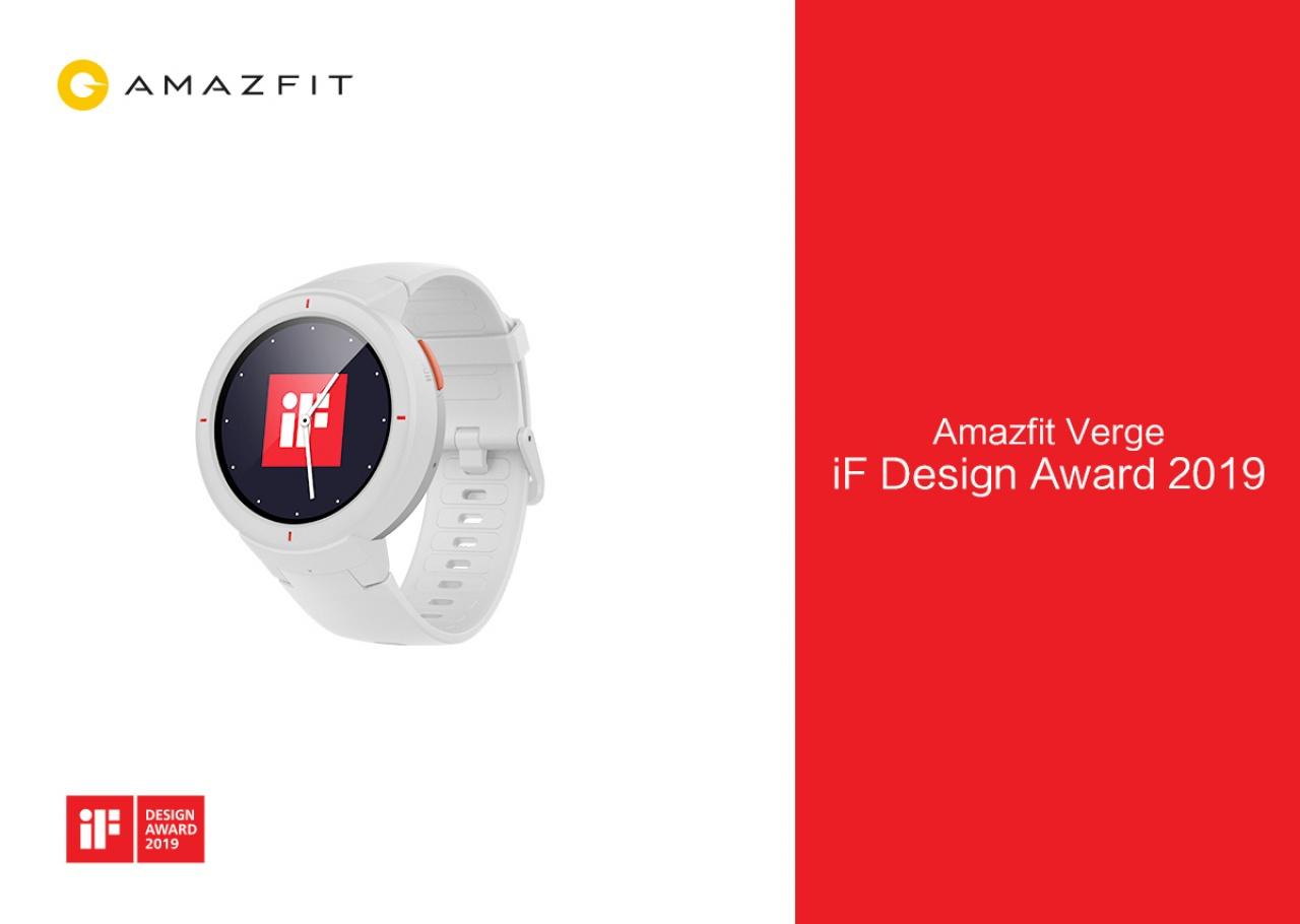 Huami Amazfit Verge выиграл дизайн премию iF 2019